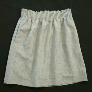 J Crew Mercantile Cinched waist skirt Gray Pockets